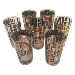 Culver Highball Glasses - Set of 7