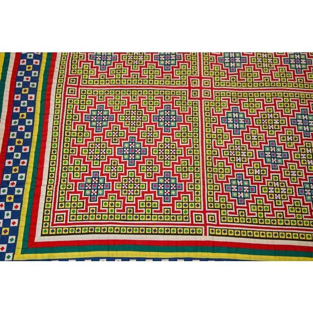 Handwoven Vietnamese Quilt - Image 5 of 8