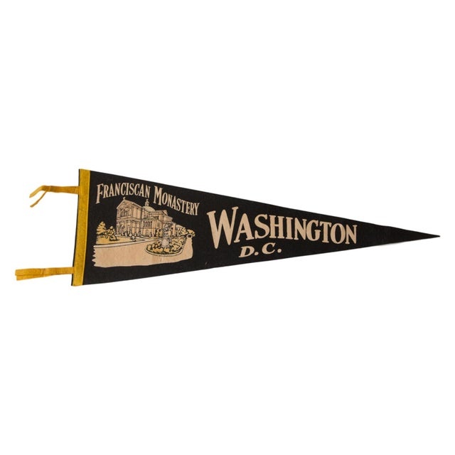 Vintage 1950s Washington DC Felt Flag - Image 1 of 2