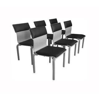 Leather Back Bentwood Dining Chairs - Set of 6