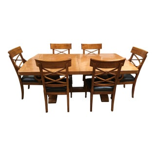 Solid Maple Dining Table & Chairs - Set of 7