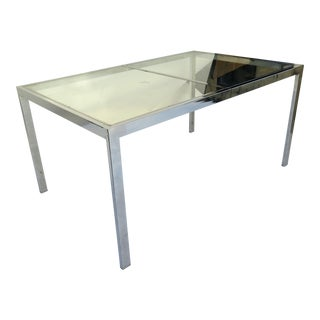 Milo Baughman Chrome Dining Table