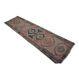 Antique Turkish Handmade Kilim Runner Rug Full Tribal Design Primitive Rug - 3′8″ × 13′7″