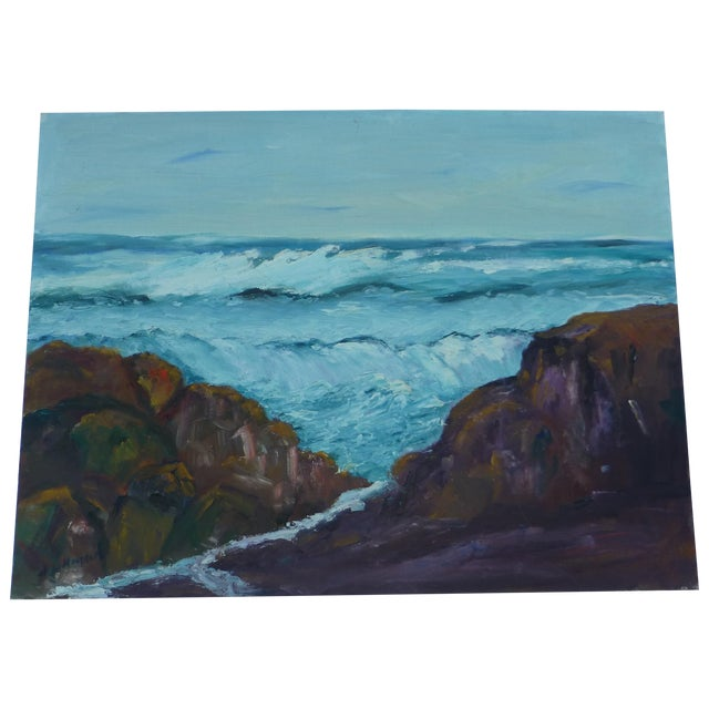 H.L. Musgrave Mid-Century North Shore Painting - Image 1 of 7