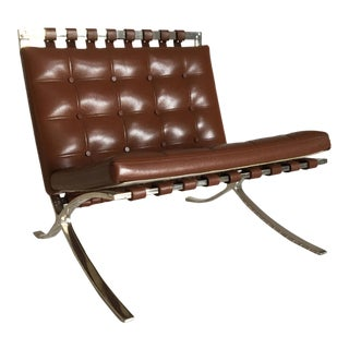 Miniature Vitra Design Museum Mr 90 Barcelona Chair Replica