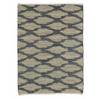 Kaleen Denim & Natural Flatweave Rug - 8' X 11'