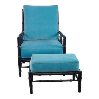 Taylor Burke Home Beaufort Bamboo Chair & Ottoman