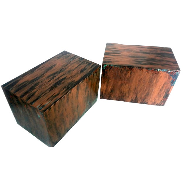 Milo Baughman Style Mid-Century End Tables - a Pair - Image 1 of 9