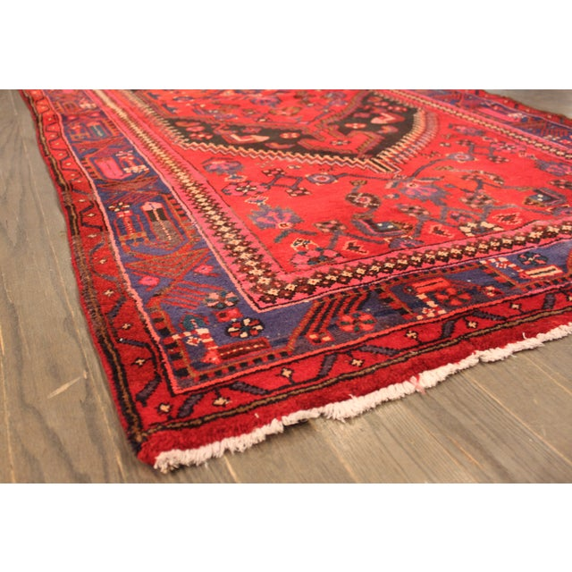 "Vintage Red Persian Rug - 4' x 6'7"" - Image 4 of 4"