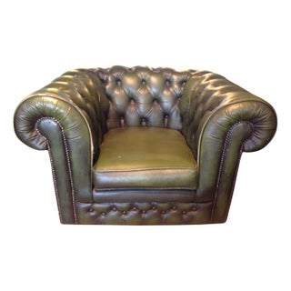 Vintage English Chesterfield Club Chair