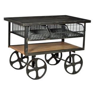 Iron & Wood Industrial Cart