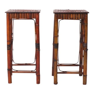 Pair of Chinese Bamboo Pedestals