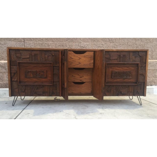 Image of Mid-Century Brutalist Credenza by Lane