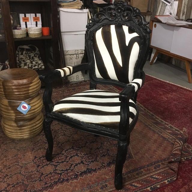 Zebra Arm Chair | Chairish