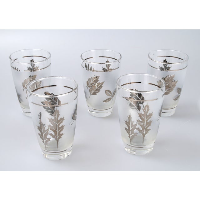 Silver Leaf Drinking Glasses Set - Set of 6 - Image 3 of 7