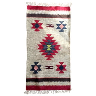 Diamond Pattern Hand-Knotted Kilim Rug - 2'3 X 4'5