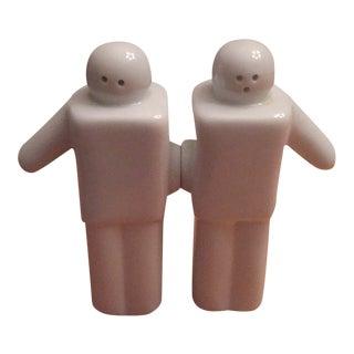 Porcelain People Salt & Pepper Shakers - A Pair