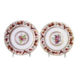 Derby Porcelain Plates, Pattern 126, Painted by William Longden