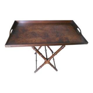 Knob Creek Burl Walnut Tea Tray Table