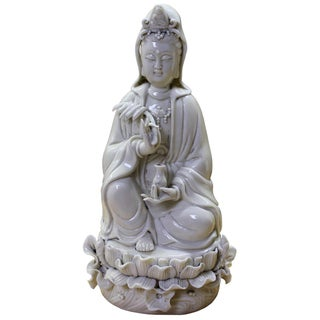 Vintage Chinese Porcelain Kwan Yin Statue