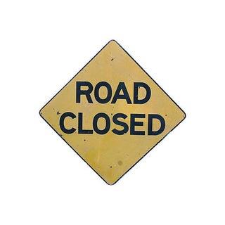 1950s Metal Road Closed Sign