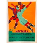 Image of Vintage Spanish Soccer Poster, Valencia vs Real Madrid
