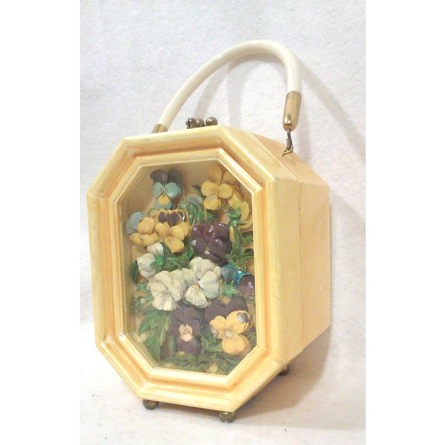 Bakelite Flora Box Purse - Image 2 of 7