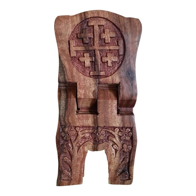 Image of Hand-Carved Book Display Stand