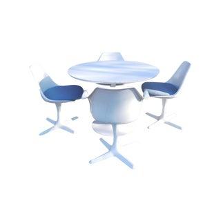 Burke Tulip Saarinen Style Dining Set & 4 Chairs
