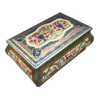 Vintage Decorated Tin Box