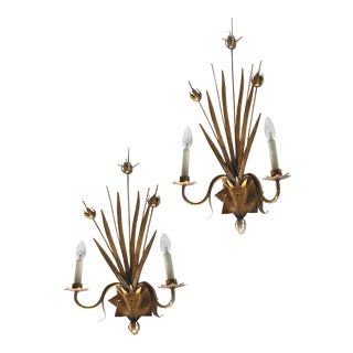 Vintage Spanish Ferrocolor Sconces - a Pair