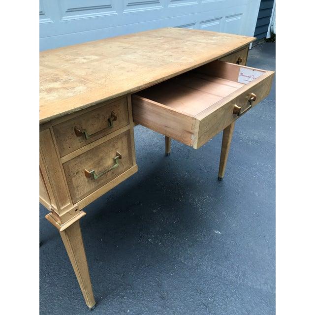 Mastercraft Desk Burled Wood - Image 6 of 11