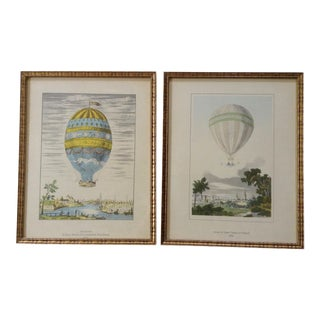 European Hot Air Balloon Prints - A Pair