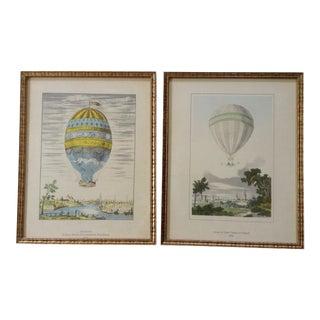 European Hot Air Balloon Prints - A Pair