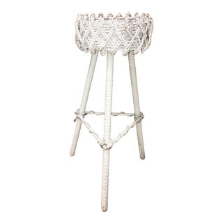 Shabby Chic White Wood Plant Stand