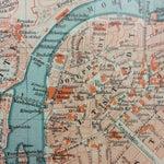 Image of Antique 1898 German Map of Prague