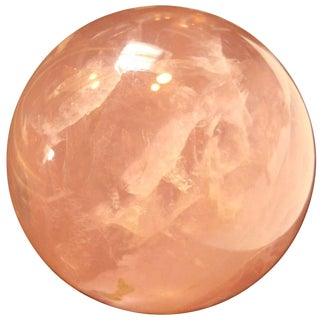 Star Rose Quartz Crystal Sphere