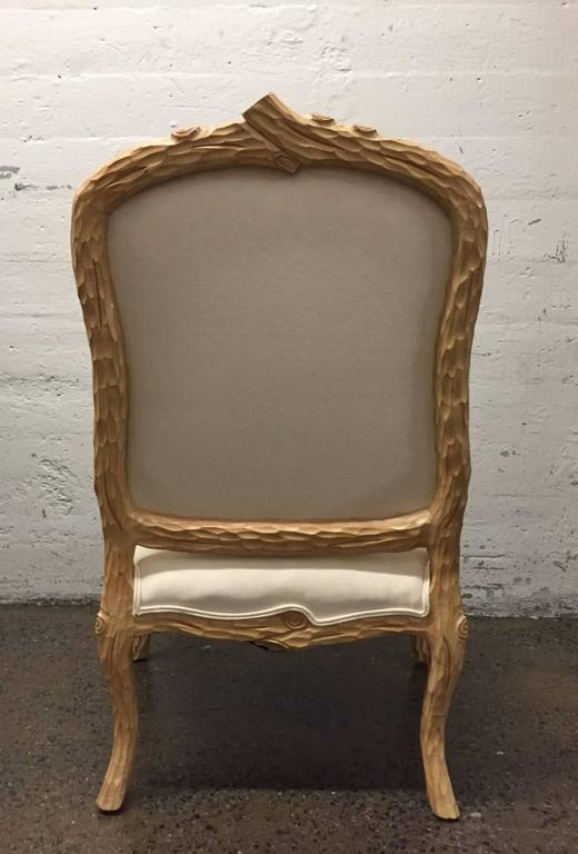 Carved French Country Armchair   Image 4 Of 7