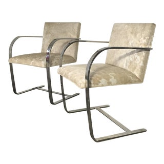 Forsyth One of a Kind Mies Van Der Rohe Brno Chairs for Knoll in Brazilian Cowhide - Pair