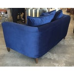 Image of Custom Baker Navy Velvet Settee