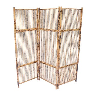 Antique Bamboo & Rattan Screen