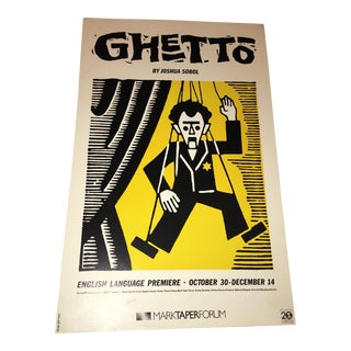 Joshua Sobel 'Ghetto' Original Poster