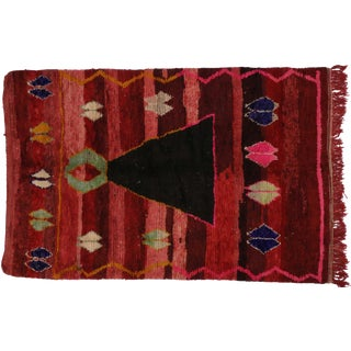 Boho Chic Berber Moroccan Rug, 5'4 x 7'11