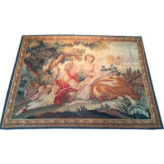 Antique French Wall Hanging Tapestry