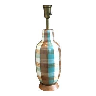 Swedish Hand-Painted Pottery Table Lamp