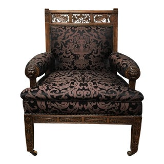Antique 19th Century Renaissance Revival Walnut Armchair