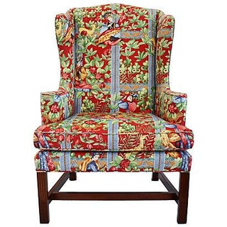 Chippendale Wingback Chair by Baker