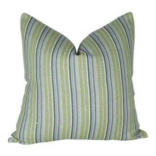 Vintage French Striped Linen Pillow