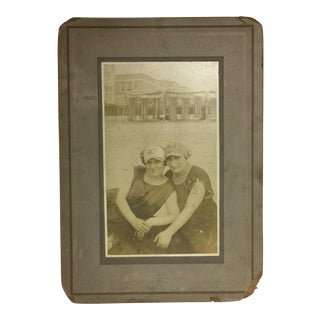 Antique Girls at the Beach Gelatin Silver Print