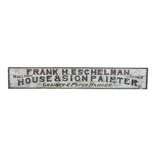 Late 19th Century Sign Painter & Paper Hanger Trade Sign